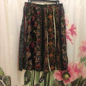 Vintage Bohemian Patterned Skirt